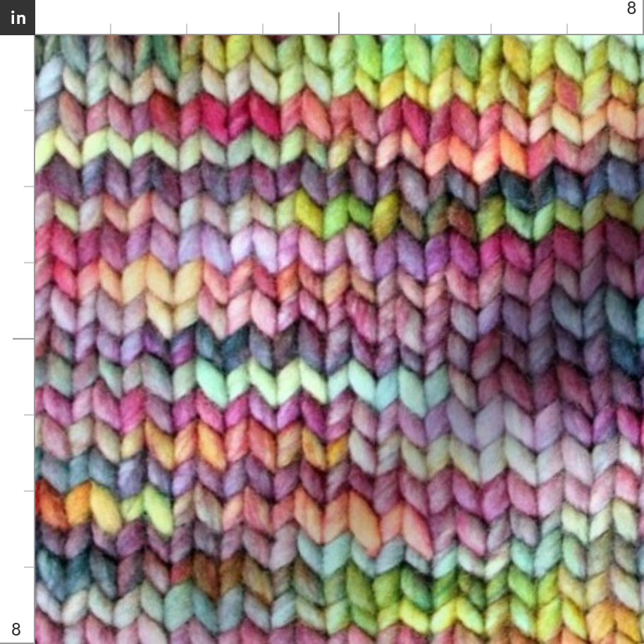Knitted Multicolor Ted Ting Yarn Fabric Printed by Spoonflower BTY