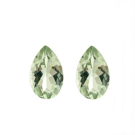 Light Amethyst Stones (Glitzy Rocks  Pear-cut 9x6mm 2 1/2ct TGW Green Amethyst Stones (Set of 2))