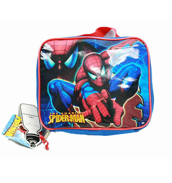 Lunch Bag - Marvel - Spiderman - Blue w/Water Bottle New Boys Gifts spco02