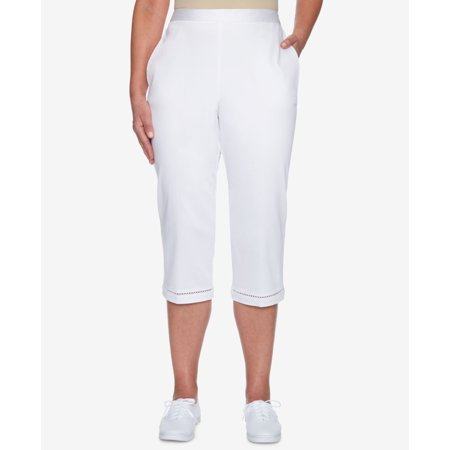 Alfred Dunner Capris - Alfred Dunner Womens Capris Cropped Stretch Pants