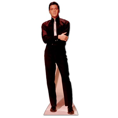 Life Size Elvis Cutout (Star Cutouts Elvis Presley Black Suit & Tie Cardboard Cutout Life Size)
