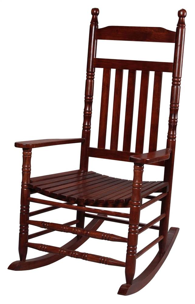 Tall Back Rocking Chair in Cherry by Gift Mark