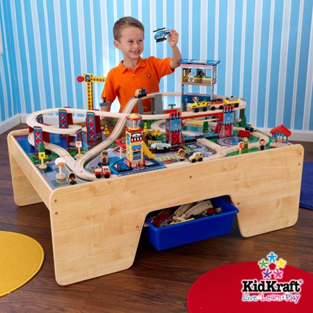 Kidkraft Rising City Train Table And Set Walmart Com