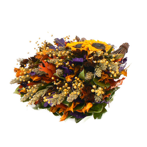 Urban Florals Sunflower Season Cornucopia Wreath