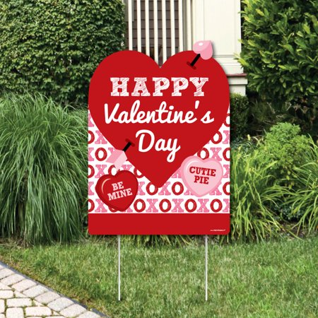 Conversation Hearts - Party Decorations - Valentine's Day Party Welcome Yard Sign - Valentine Decoration For Classroom
