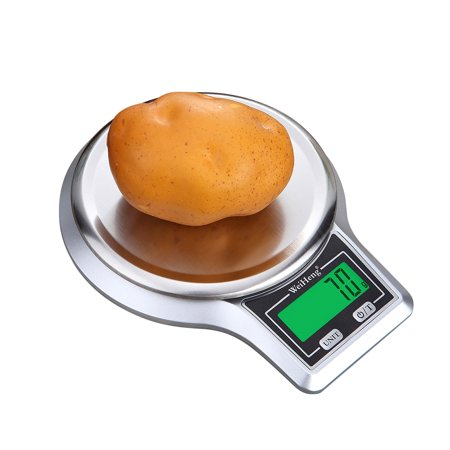 WeiHeng Electronic Digital Kitchen Scale Stainless Steel Weighing Pan Food Scale Platform Scale with Tare - Weighing Pan