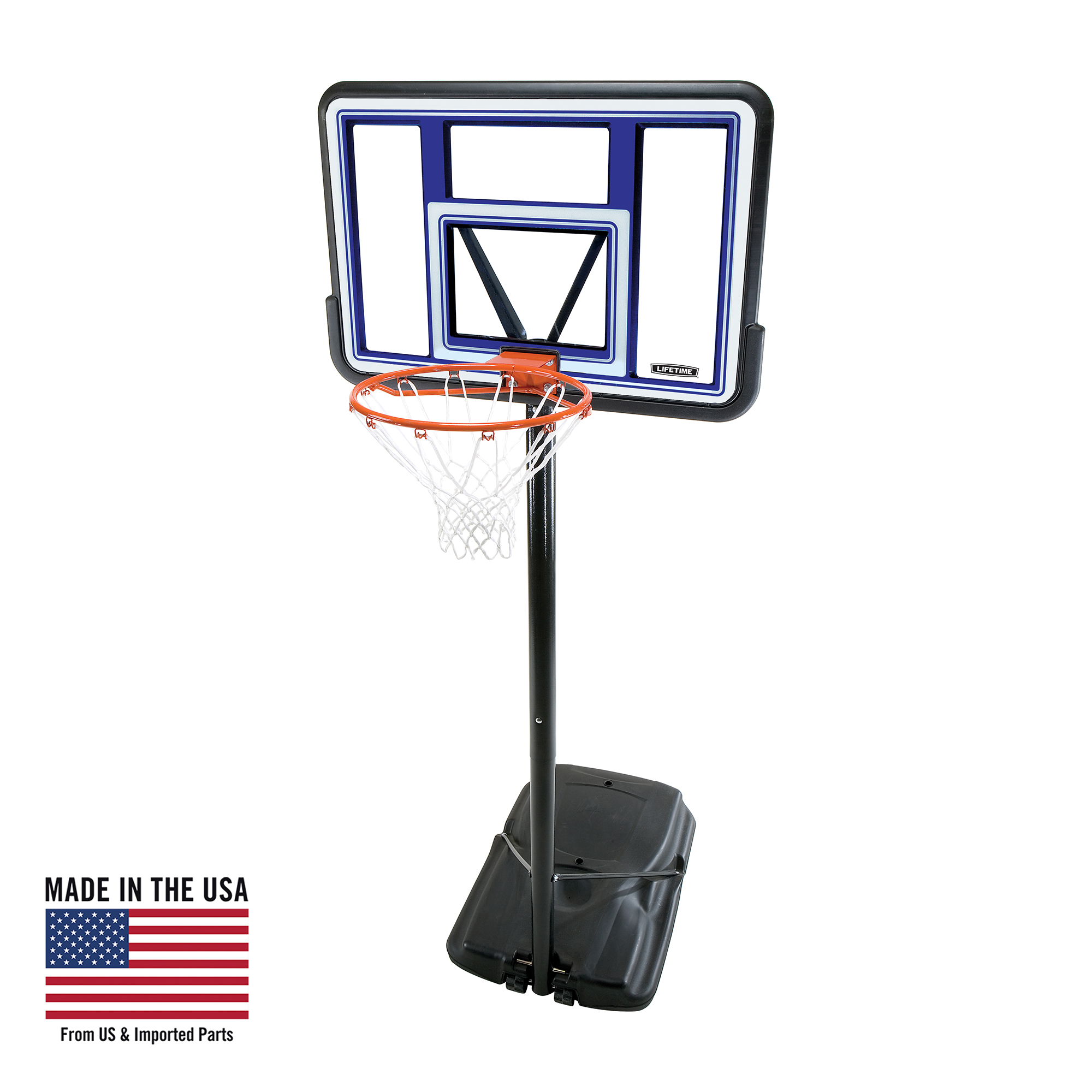 Lifetime Adjustable Portable Basketball Hoop (44-Inch Polycarbonate), 90073