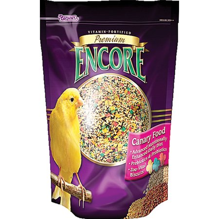 F.m. Browns Inc-Pet-Encore Premium Food Canary & Finch 16 Ounce