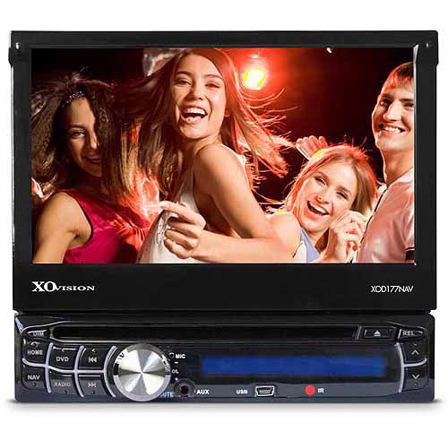 "XO Vision 320W 7"" Touchscreen Motorized DVD Receiver with GPS and Bluetooth"
