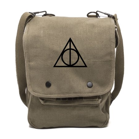 Harry Potter Deathly Hallows Symbol Travel Map Shoulder Bag iPad Tablet