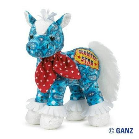 Ganz Webkinz Rockerz Blue Horse Stuffed Animal With Sealed Code