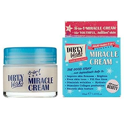 dirty works miracle cream multi-tasker 8-in-1 face & neck cream 1 69 fl oz