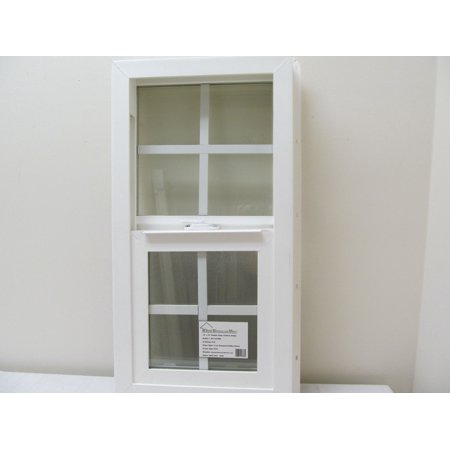 Double Pane Window 14 X 27 Tempered Glass Pvc Frame Walmartcom