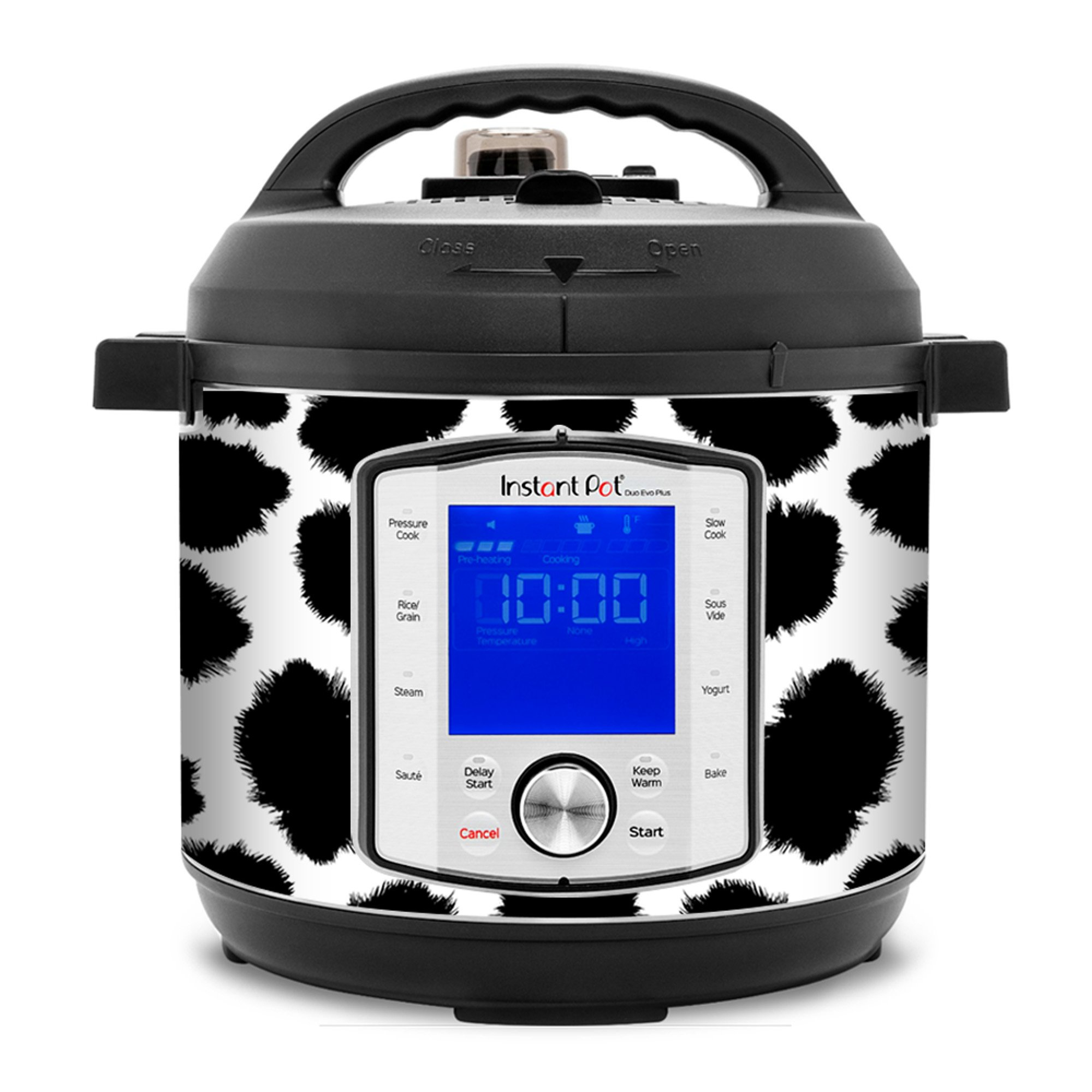 Removable AND wipe able Instant Pot Wrap Mealthy Multicooker Wrap Peacock