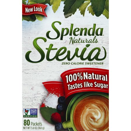 SPLENDA Naturals Stevia Sweetener, 80ct packets Zero Calorie Stevia (Stevia Powder Vs Stevia In The Raw)