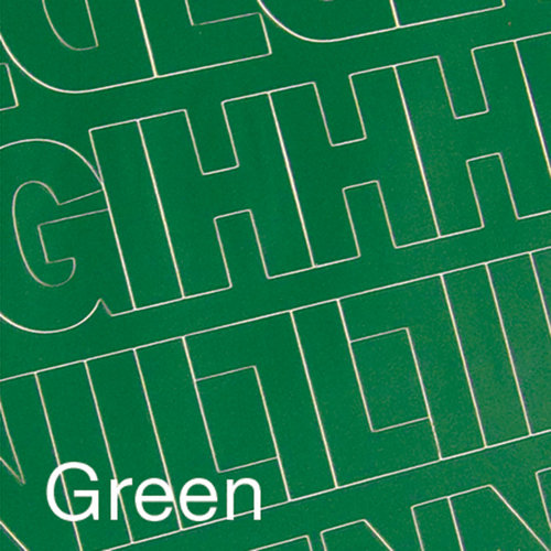 """Permanent Adhesive Vinyl Letters and Numbers, 2"""" 167pk, Green"""