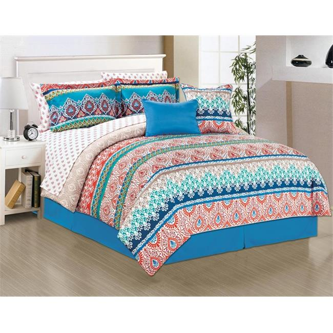 Manhattan Heights 24196 Fez Comforter Bed Set, King Size - 10 Piece