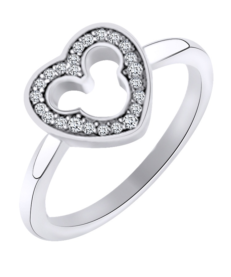 Jewel Zone US 1//20 Ct Round Cut Cubic Zirconia Heart Pendant in14K Gold Over Sterling Silver
