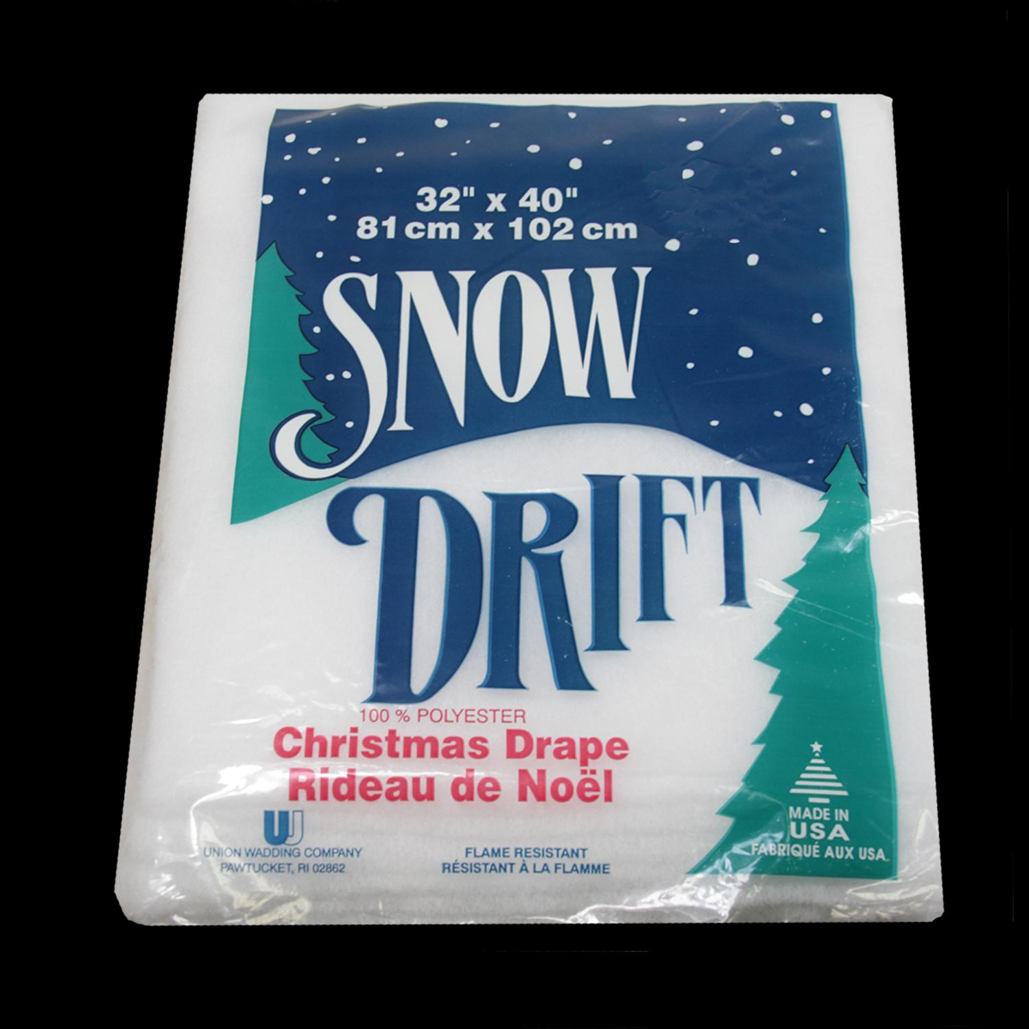"32"" x 40"" White Snow Drift Artificial Christmas Drape"