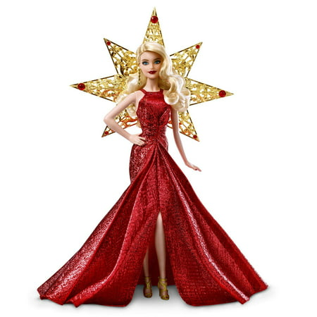 Barbie Collector 2017 Holiday Doll, Blonde, with Star Adornment