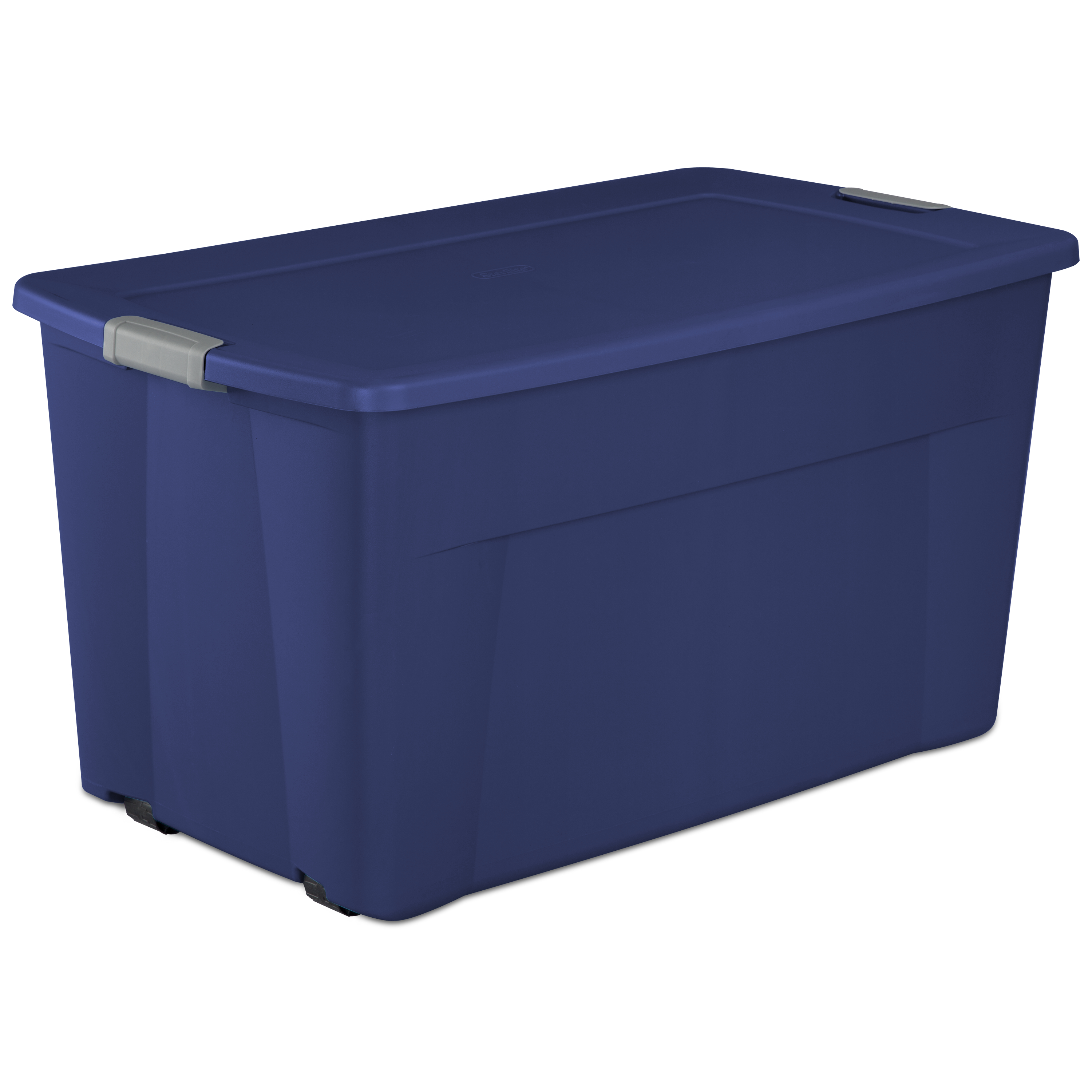 Sterilite 45 Gal 170 L Wheeled Latch Tote Stadium Blue