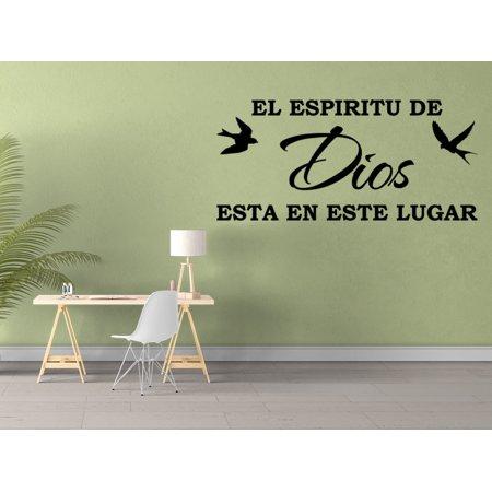 Vinilo Decorativo Para Pared El Espiritu De Dios Esta En Este Lugar SQ15