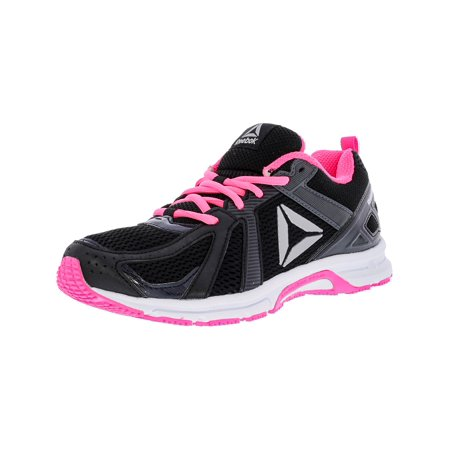 - Reebok Women's Runner Mt Coal / Black Pink White Silver Ankle-High Mesh Running Shoe - 6.5M