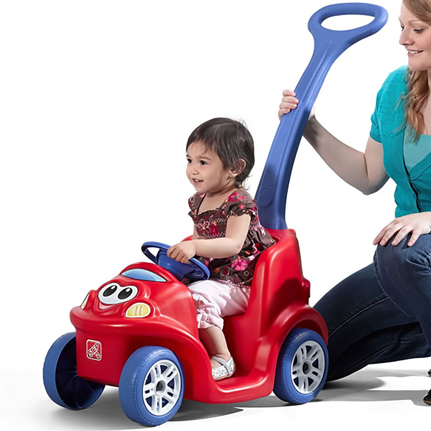 Step2 Easy Steer Toddler Chilren's Push Around Buddy Ride On Push Pull Toy, Red by Step2