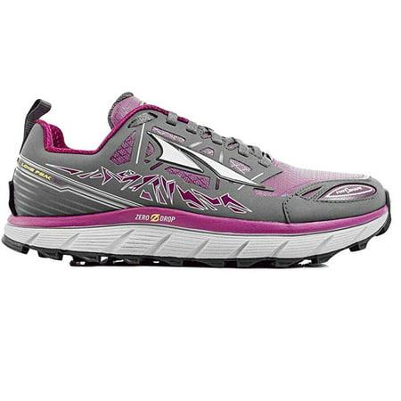 Altra Women's Lone Peak 3.0 Low Neo Trail Running Shoe, Gray/Purple, 8 B(M)