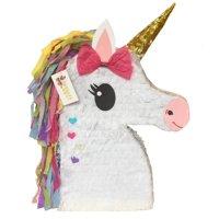 APINATA4U Unicorn Emoticon Pinata, White, 18in x 24in