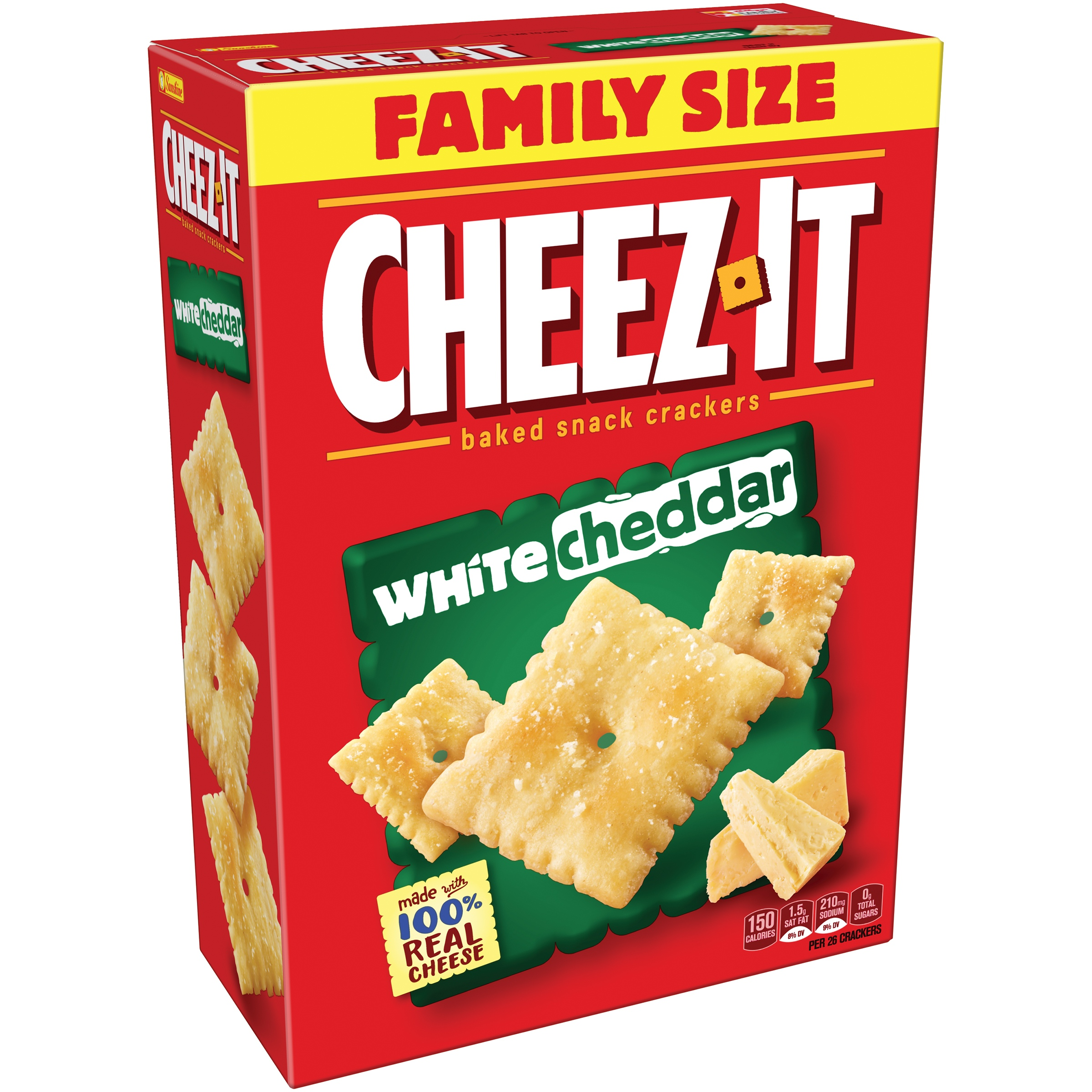 Cheez-It® White Cheddar Baked Snack Crackers 21 oz. Box