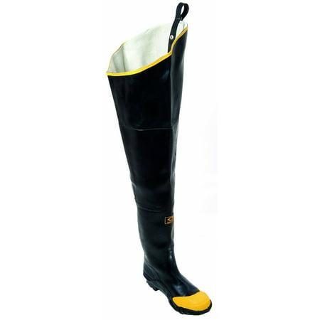 - Herco Heavy Duty Rubber Steel Toe Hip Waders (Black/Yellow)