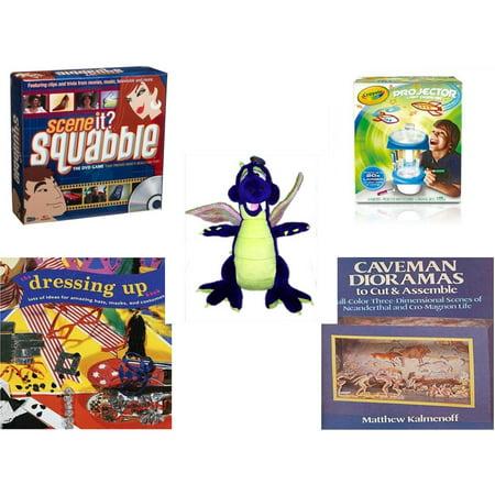 Children's Gift Bundle [5 Piece] -  Scene It? Squabble - Crayola Sketcher Projector  -  Works Purple Dragon  20
