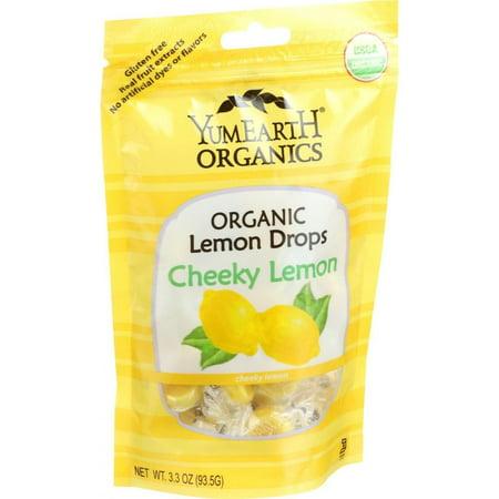 College Farm Organic Lemon Candy - Yumearth Organics Organic Lemon Drops - Cheeky Lemon - 3.3 Oz - Pack of 6
