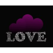 Secretly Designed Love with Purple Hearts by Secretly Spoiled Textual Art