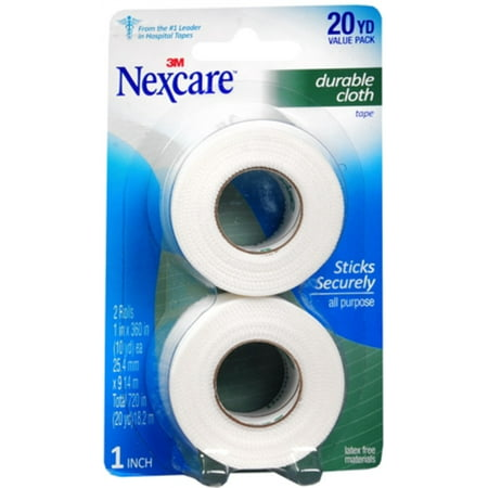- Nexcare Durapore Durable Cloth Tape 1 Inch X 10 Yards, 2 ea (Pack of 2)