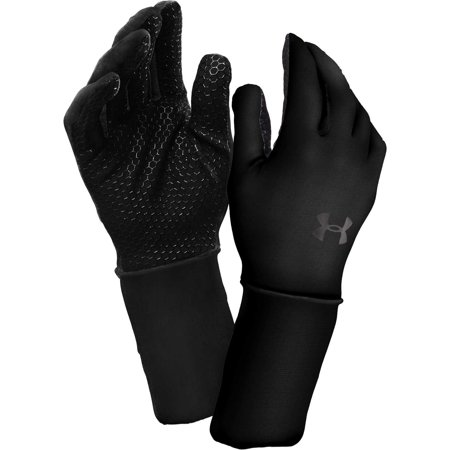 under armour men's coldgear liner gloves, black, x-large -