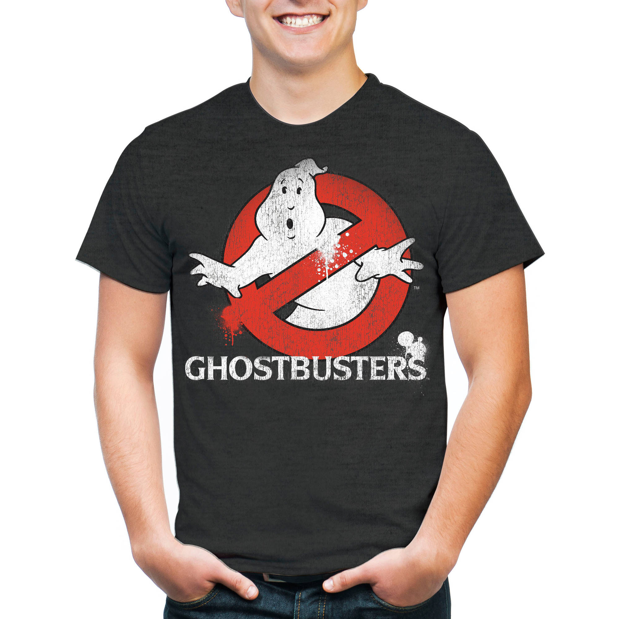 Ghostbuster Big Men's Classic Logo Short Sleeve T-Shirt, 2XL