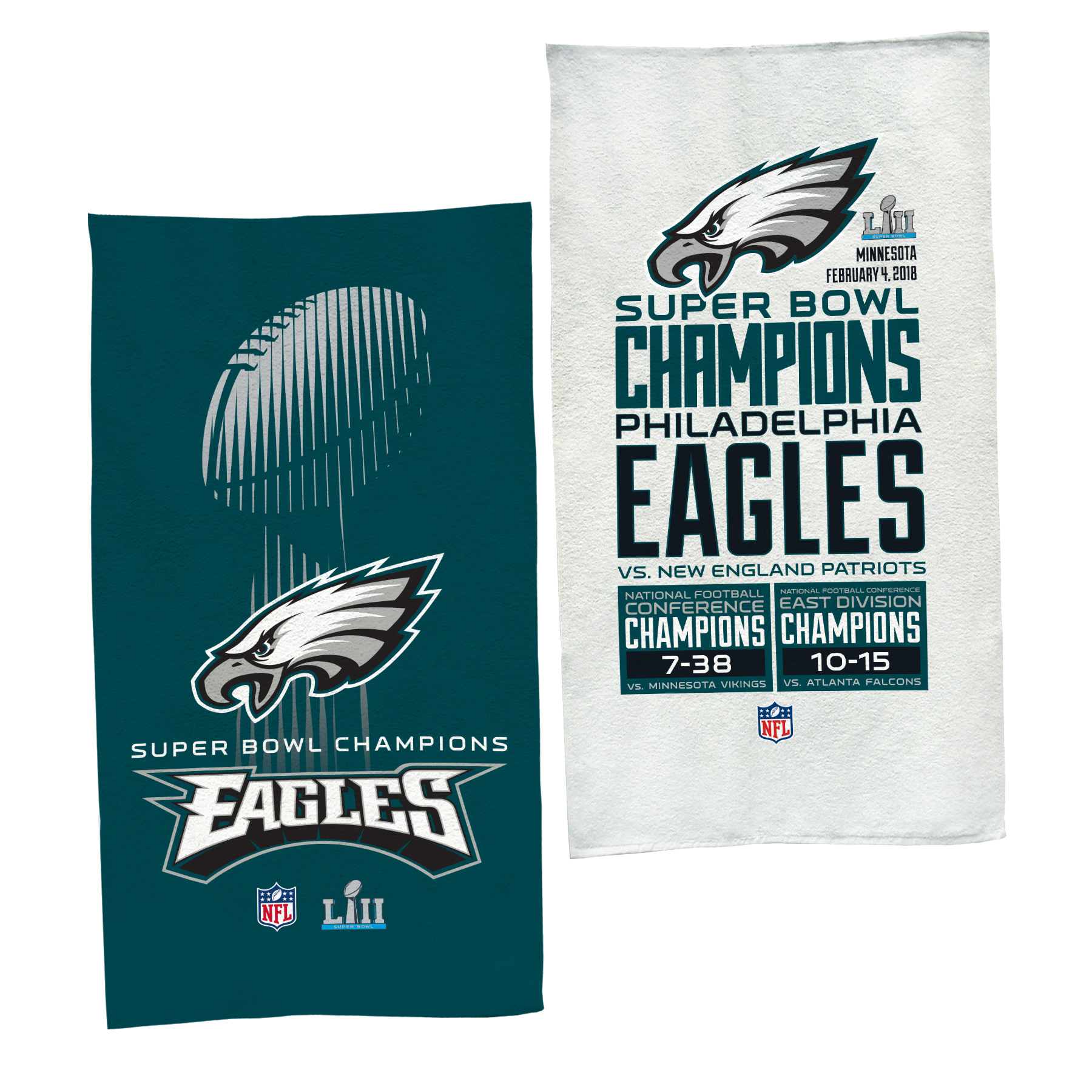 "Philadelphia Eagles WinCraft Super Bowl LII Champions Trophy Collection Locker Room Official 22"" x 42"" On-Field Celebration Towel - No Size"