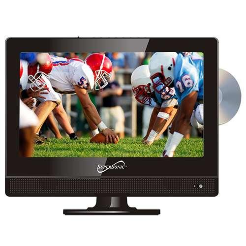 """Supersonic 13.3"""" LED TV w/DVD Player  720p, 1366 x 768, 16:9,Widescreen, LED Ba"""