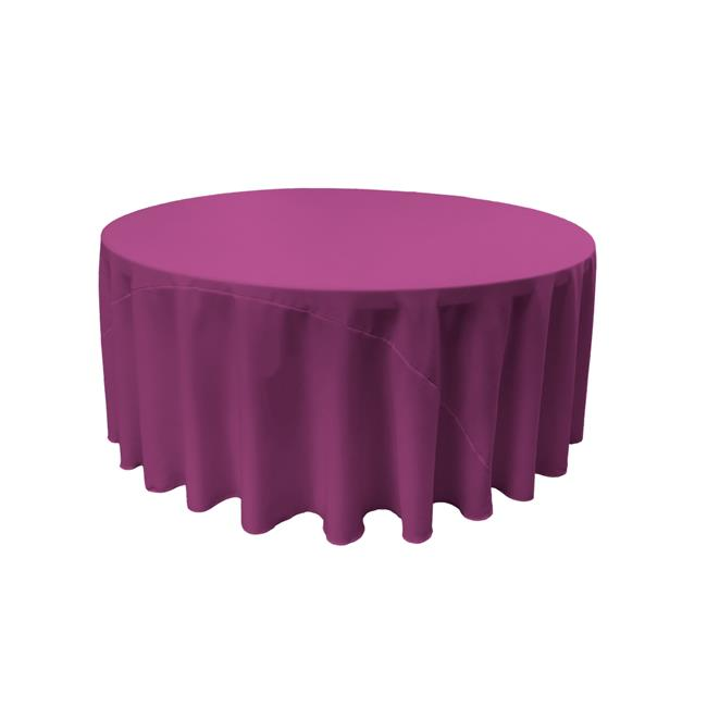 LA Linen TCpop108R-MagentaP81 Polyester Poplin Tablecloth, Magenta 108 in. Round by LA Linen