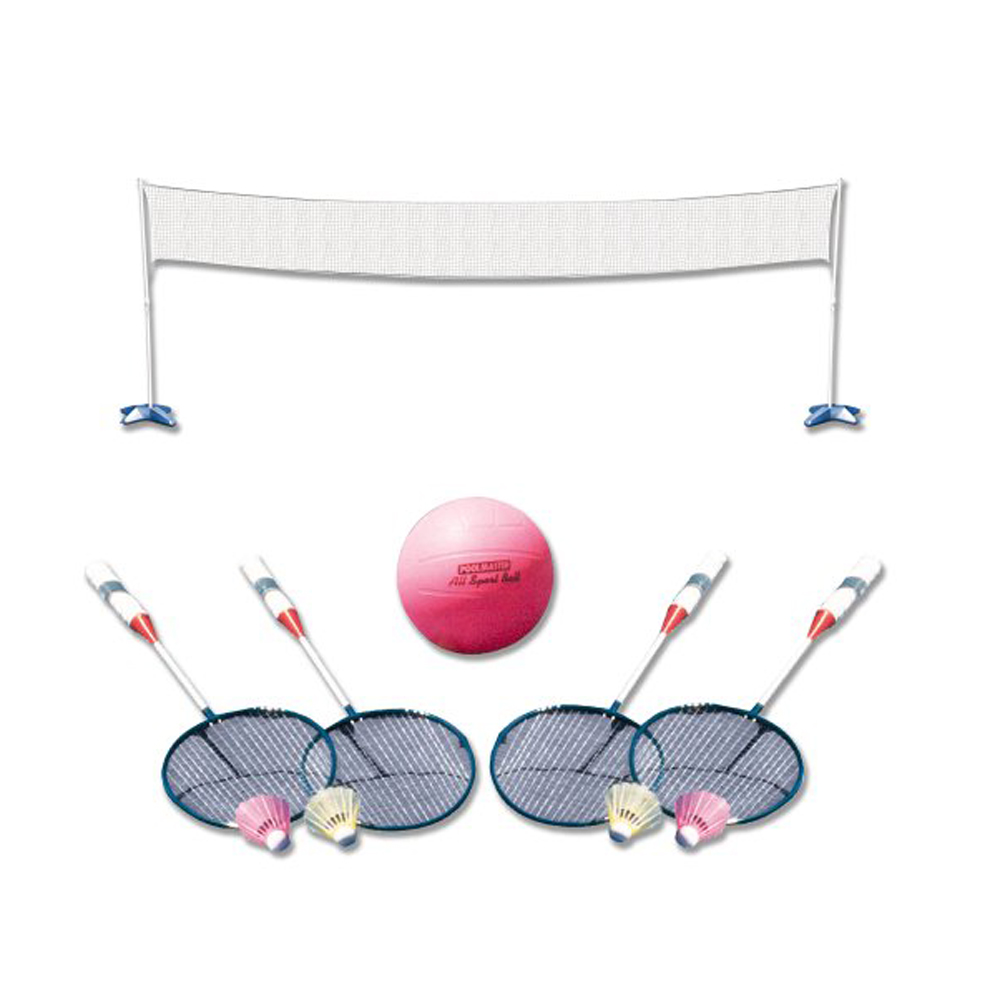 Poolmaster Across Pool Volleyball and Badminton Net Swimming Pool Game Combo by Poolmaster