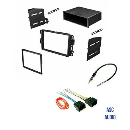 Asc Audio Car Stereo Dash Kit  Wire Harness  And Antenna Adapter To Add A Radio For Some Buick Chevrolet Gmc Pontiac Saturn  07 11 Tahoe  Silverado  Suburban Etc   Listed Below