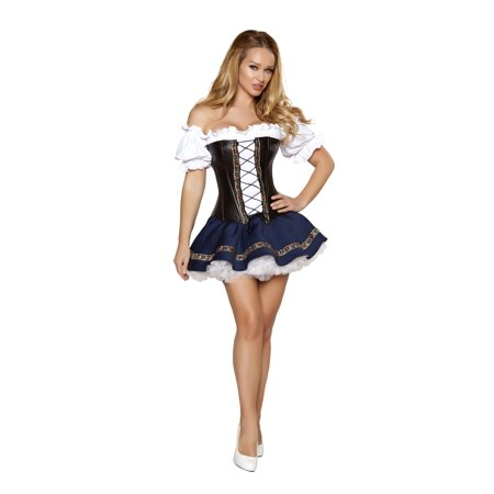 3pc Beer Maiden Baby - 4362-AS-S - White/Blue/Black - image 1 of 1