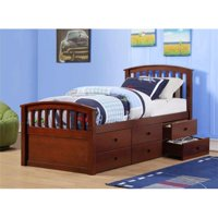 Donco Kids PD-425CP 6 Drawer Storage Bed - Twin Size, Dark Cappuccino
