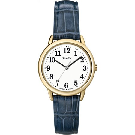 Women's South Street Watch, Blue Croco Pattern Leather Strap Blue Leather Strap Watch