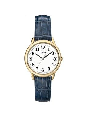 Women's South Street Watch, Blue Croco Pattern Leather Strap