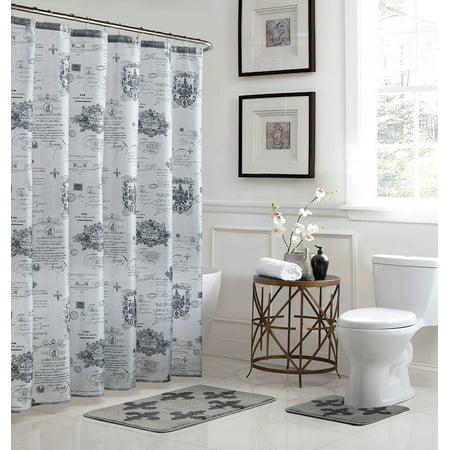 Fleur De Lis 15-Piece Bathroom Shower -