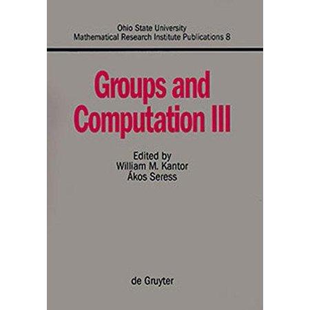 Groups and computation III - image 1 of 1