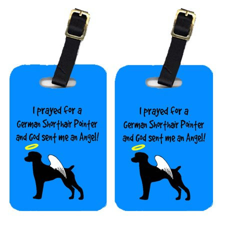 Pair of 2 German Shorthaired Pointer Luggage Tags